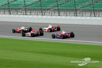 Ryan Briscoe, Dan Wheldon, Sam Hornish Jr. and Kosuke Matsuura