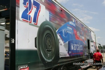 Andretti Green Racing transporter
