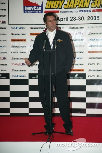 Indy Japan 300 welcome party: Tony George