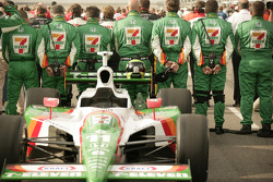 Andretti Green crew members during National Anthem