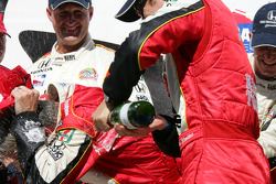 Champagne for race winner Dan Wheldon