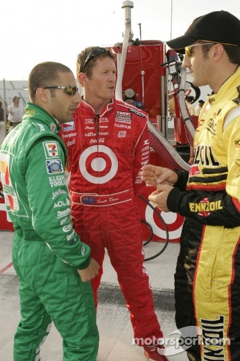 Tony Kanaan, Scott Dixon and Tomas Scheckter