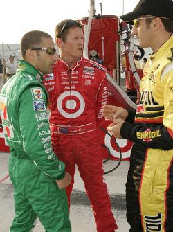 Tony Kanaan, Scott Dixon and Tomas Scheckter