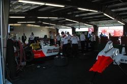 Team Penske's garage area
