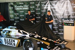 The new Canadian Club livery for Dario Franchitti's IndyCar Series car