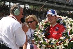 Interviews for race winner Sam Hornish Jr.