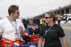 Buddy Lazier and Sarah Fisher