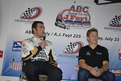 Press conference: Dario Franchitti and Marco Andretti