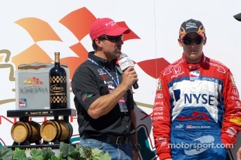 Podium: Michael and Marco Andretti