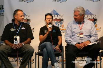 Danica Patrick during a Peak Antifreeze press conference
