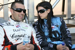 Dario Franchitti and Danica Patrick