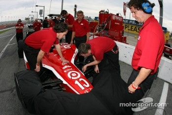 Target Chip Ganassi Racing crew members at work
