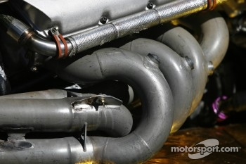 Detail of the Chevy engine of the IndyCar two-seater car