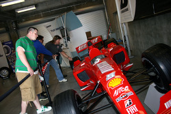 Fans check out vintage race cars