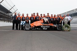 Dario Franchitti and the winning crew of the 91st Indianapolis 500