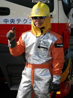 Fire worker