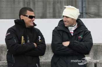 Dario Franchitti and Vitor Meira