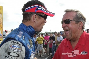 Jack Beckman and  and team owner Don Schumacher
