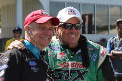 Tim Wilkerson and John Force