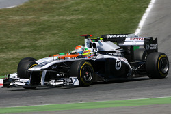 Pastor Maldonado, Williams F1 Team and Adrian Sutil, Force India
