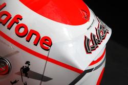 Helmet of Jenson Button, McLaren Mercedes with Steinmetz Diamonds
