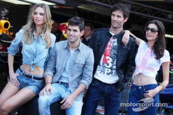 Jaime Alguersuari, Scuderia Toro Rosso and Mark Webber, Red Bull Racing