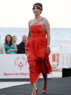 The girlfriend of Vitantonio Liuzzi, Francesca Caldarell, Amber Lounge Fashion