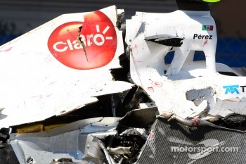 The car of Sergio Perez, Sauber F1 Team
