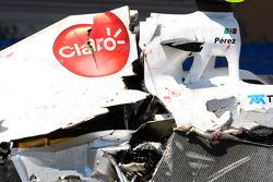 The car of Sergio Perez, Sauber F1 Team