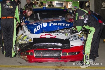 Damaged car of Mark Martin, Hendrick Motorsports Chevrolet