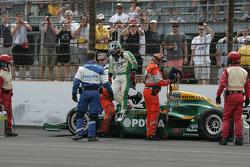 EJ Viso, KV Racing Technology-Lotus crashes