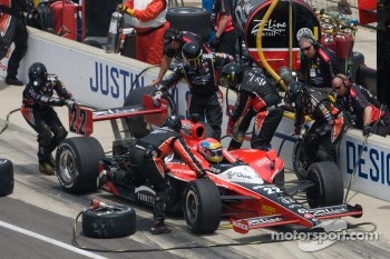 Pit stop for Justin Wilson, Dreyer & Reinbold Racing