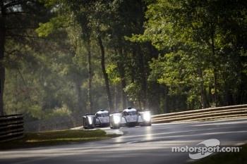 #2 Audi Sport Team Joest Audi R18 TDI: Marcel Fässler, André Lotterer, Benoit Tréluyer, #1 Audi Sport Team Joest Audi R18 TDI: Timo Bernhard, Romain Dumas, Mike Rockenfeller