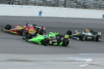 Danica Patrick, Andretti Autosport and Sebastian Saavedra, Conquest Racing and Takuma Sato, KV Racing Technology-Lotus