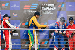 Podium from left: Lucas Foresti, Felipe Nasr, William Buller and Bart Hylkema