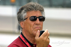 Mario Andretti watching
