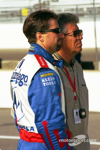 Michael Andretti and father Mario