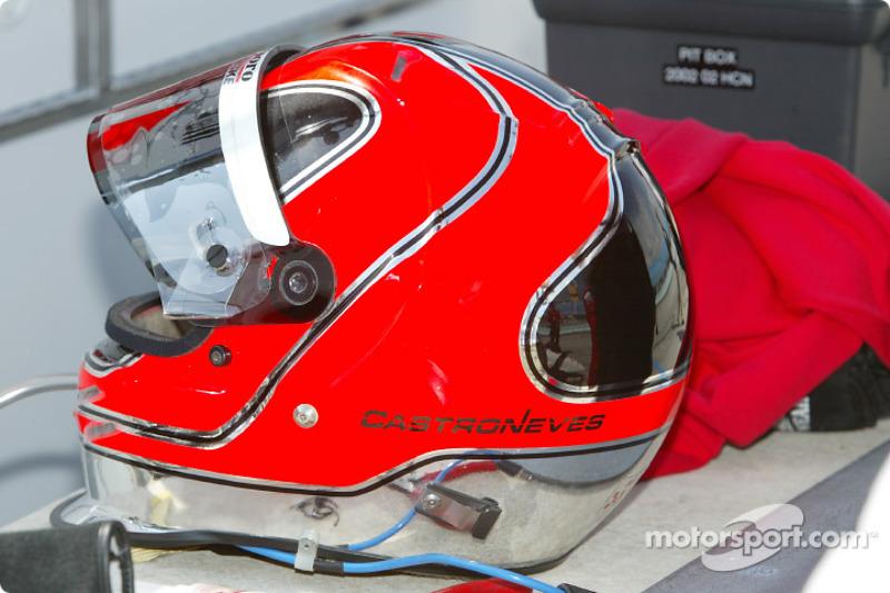 Helio Castroneves' helmet