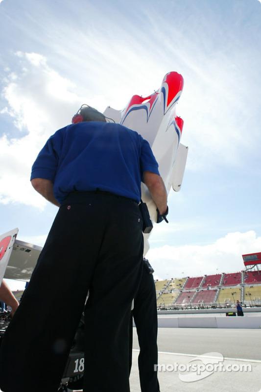 PDM Racing crew member