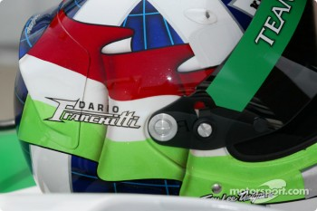 Dario Franchitti's helmet