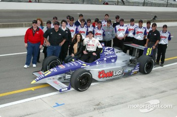 Buddy Lazier, wife Kara and Team Hemelgarn