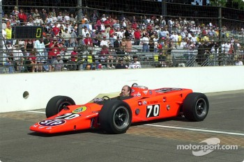 Andy Granatelli takes the turbine out for a spin