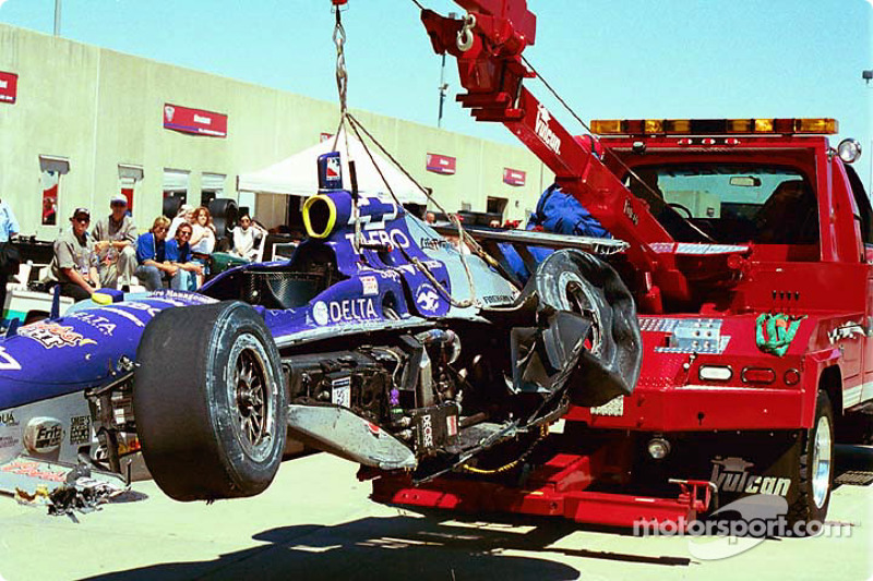 Buddy Lazier's damaged car