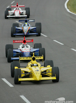 Sam Hornish Jr. leads the pack