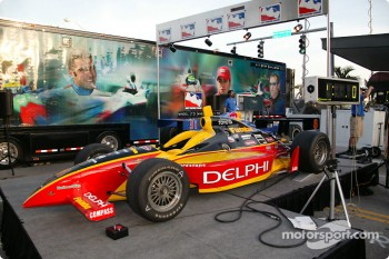 Toyota Indy Feat held in South Beach, Miami: the Delphi show car