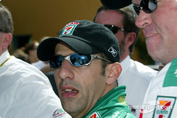 Tony Kanaan receives the MBNA Pole Award