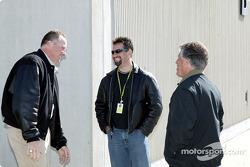 Brian Barnhardt, Michael Andretti and Mario Andretti