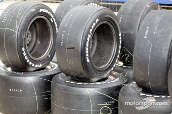 Stack of Firestone tires