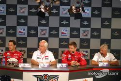Penske press conference: Helio Castroneves, Roger Penske, Gil de Ferran and Rick Mears
