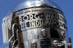Detail of the legendary Borg Warner Trophy